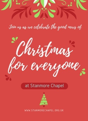 Christmas Flyers.Stanmore Chapel Christmas Flyers 18 Front